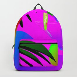 Colorful ,exotic,tropical des,sunset,cocktail,palm trees Backpack