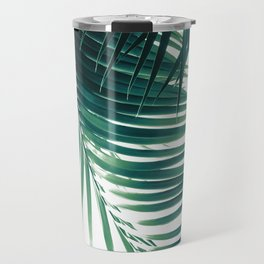 Palm Leaves Green Vibes #4 #tropical #decor #art #society6 Travel Mug