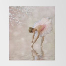 Dancer in Water Throw Blanket