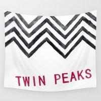 twin peaks Wall Tapestries featuring Twin Peaks by BITN