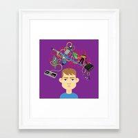 nerd Framed Art Prints featuring Nerd by Mouki K. Butt
