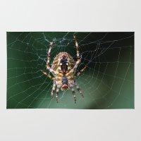 spider Area & Throw Rugs featuring Spider by Dora Birgis