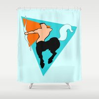 sagittarius Shower Curtains featuring Sagittarius by tuditees