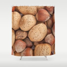 Hazelnuts and almonds Shower Curtain