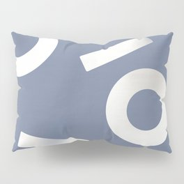 Blue Keyhole Linen Pillow Sham