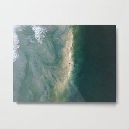 Sand Wash Metal Print
