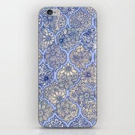 Moroccan Floral Lattice Arrangement - Purple iPhone Skin