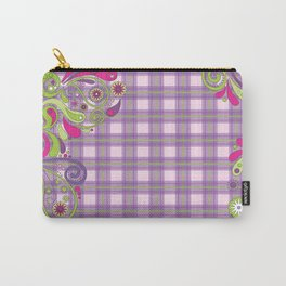 Paisley Plaid Carry-All Pouch