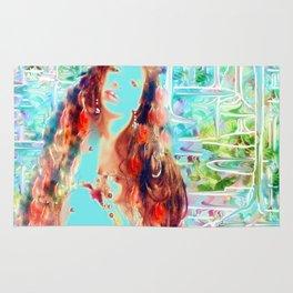 Swirling multi color goddess ladykashmir  Rug