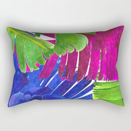 Colorful tropical leaves Rectangular Pillow
