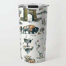 Yellowstone National Park Travel Pattern Design Travel Mug