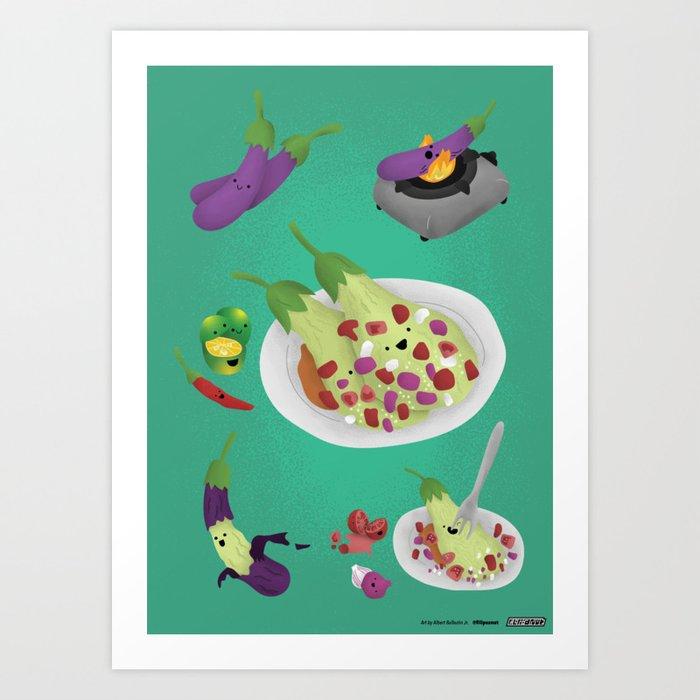 Ensaladang talong Art Print