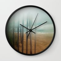 wander Wall Clocks featuring Wander by Bella Blue Photography