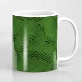 Green Topographic Landscape Coffee Mug