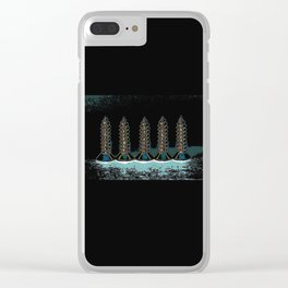 Tall Screws Clear iPhone Case