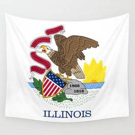Flag of Illinois Wall Tapestry