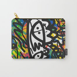 Street Art Graffiti Tag Doodles White Monster by Emmanuel Signorino Carry-All Pouch
