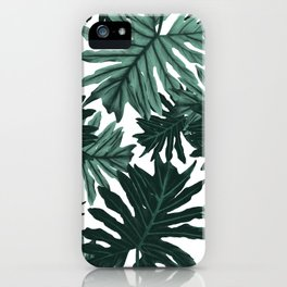 Philo Hope - Tropical Jungle Leaves Pattern #6 #tropical #decor #art #society6 iPhone Case