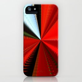 Sunny interval in red tunnel iPhone Case