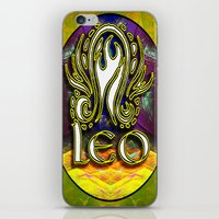 astrology iPhone & iPod Skins featuring Leo Zodiac Sign Astrology by CAP Artwork & Design