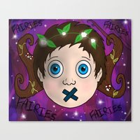 fairies Canvas Prints featuring Fairies! by Grace Isabel