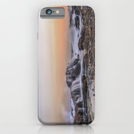 Waves on the rocks at the Backshore iPhone Case