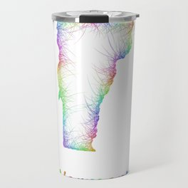Rainbow Vermont map Travel Mug