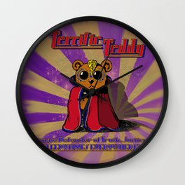 The Terrific Teddy- Ultimate Defender of Sleepytime Wall Clock