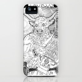 """Taurus"" by Mauri iPhone Case"