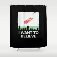 i want to believe Shower Curtains featuring I want to believe by kat stark