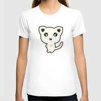 kawaii T-shirts featuring Kawaii Cat by Nir P