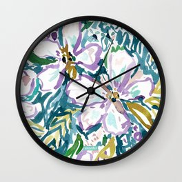 MONTEREY FLORAL Wall Clock