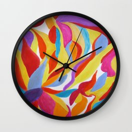 Divine Flowers Wall Clock