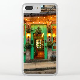 Green Cafe in Old Montreal Clear iPhone Case