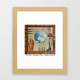"""""""The Fallen.....Weeping for Peace"""" Framed Art Print"""