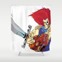 thundercats Shower Curtains featuring Lion-O x MrWetpaint by Mr Wetpaint