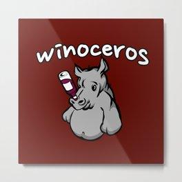 Winoceros Metal Print