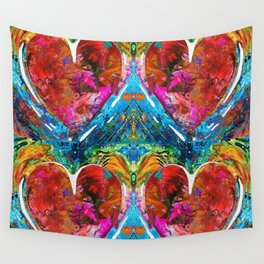 Colorful Heart Art - Everlasting - By Sharon Cummings Wall Tapestry