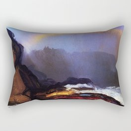 Early Morning Coastal Fog & Rainbow landscape painting by George Wesley Bellows Rectangular Pillow