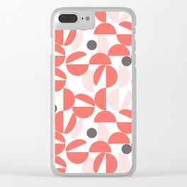 Living Coral Abstract Clear iPhone Case