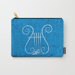 Blue Lyre Carry-All Pouch