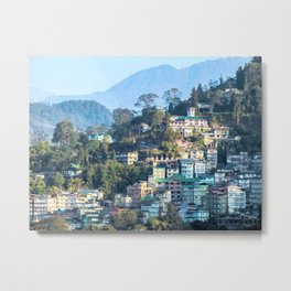 Pastel City : Gangtok Metal Print