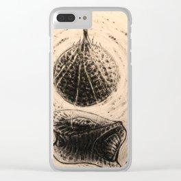 Geometric womb Clear iPhone Case