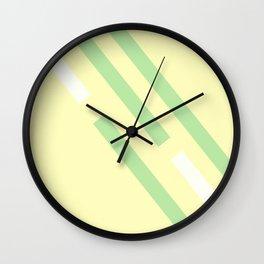 Green yellow white Wall Clock
