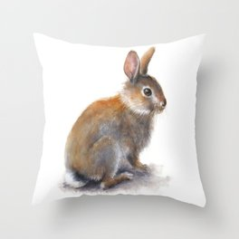 Wild Rabbit Throw Pillow