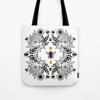 Tote Bags featuring Queen Bee by JoanaRosaC
