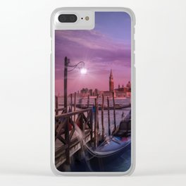 VENICE Gorgeous Sunset Clear iPhone Case