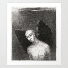 The Fallen Angel Spreads His Black Wings Art Print