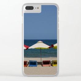 Beach Umbrellas in Nha Trang Clear iPhone Case