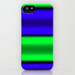 Green & Blue Horizontal Stripes iPhone Case